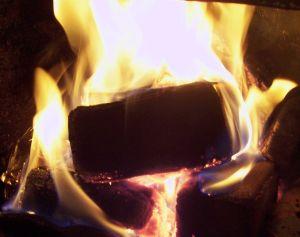 brykietkominkowy.pl palący się brykiet w kominku 100_4143 kadr